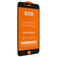 Защитное стекло 21D Glass 0.10 mm Full Glue для Apple iPhone 7 Plus / 8 Plus - черный
