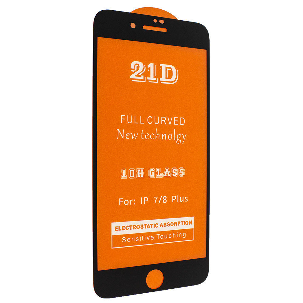 Защитное стекло 21D Glass 0.10 mm Full Glue для Apple iPhone 7 Plus / 8 Plus Черный