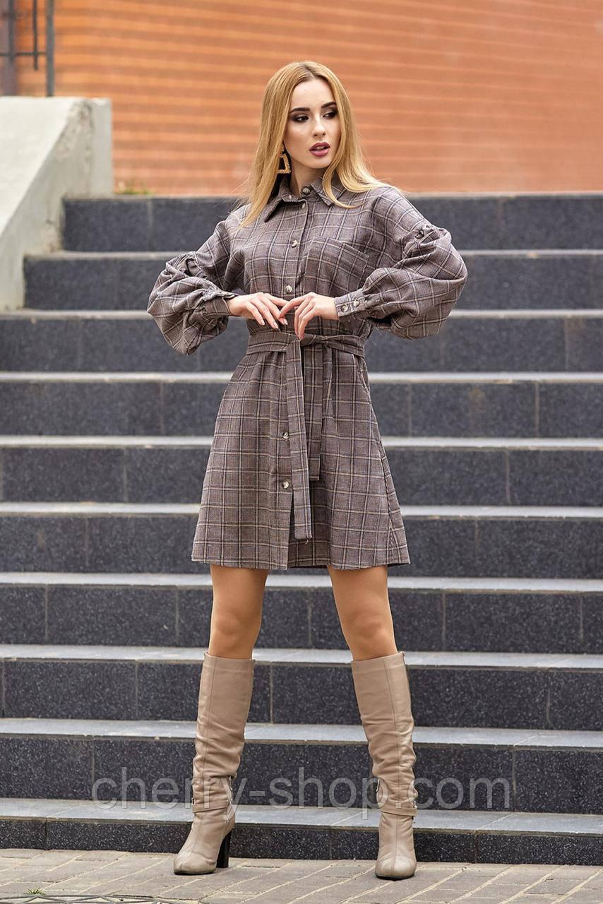 Платье - рубашка с эффектными широкими рукавами