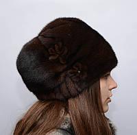 Женская норковая шапка кубанка Звездочка, фото 1