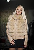 Женская куртка с мехом (трансформер)