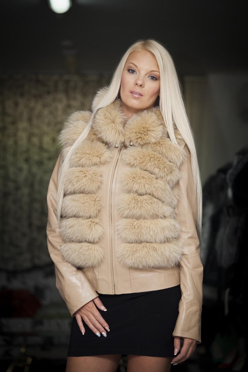 Женская куртка с мехом (трансформер) - Магазин «OSCAR FUR». Дубленки. Шубы. Куртки. Шапки. в Одессе