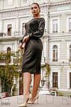 Деловое платье миди в клетку черное, фото 3