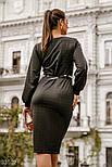 Деловое платье миди в клетку черное, фото 4