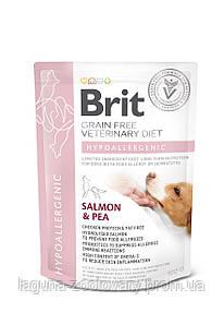 Brit GF VetDiets Dog Hypoallergenic 12 kg при пищевой аллергии  с лососем, горохом и гречкой
