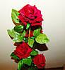 М-468 Ветка розы бархатной 5 голов 110х11см