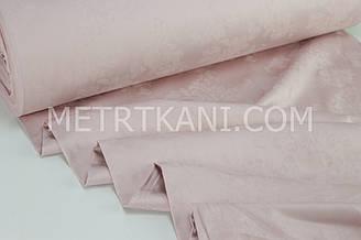 "Сатин жакард ""Чайная роза"" на грязно-розовом фоне, ширина 240 см № СЖ-015"