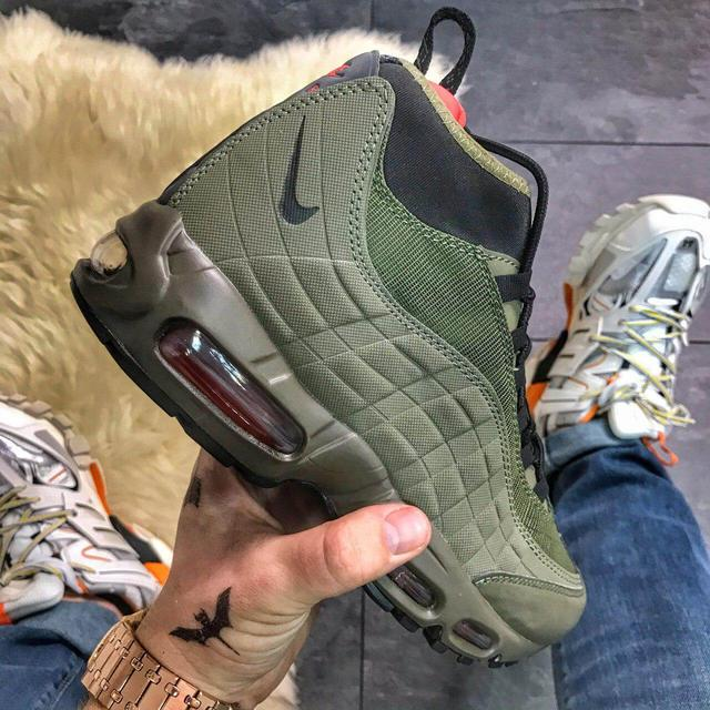Кроссовки Nike Air Max 95 Sneakerboot Olive Red Cargo фото