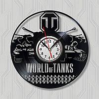Часы игра Игра он-лайн Часы с винила Ретро виниловые часы Настенные часы Часы черного цвета Круглые часы 30 см