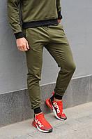Хаки спортивные штаны мужские / Мужские спортивные брюки весна/лето/осень