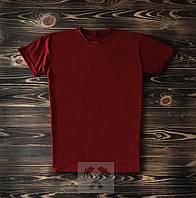 Бордовая мужская футболка/ Футболки с надписями на заказ
