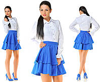 Платье белый верх синий низ