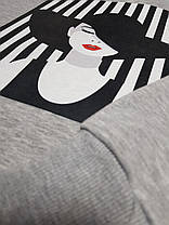 """Свитшот женский с рисунком  """"Девушка в Шляпе"""", фото 3"""