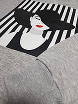 """Свитшот женский с рисунком  """"Девушка в Шляпе"""", фото 2"""