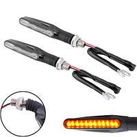 LED указатели поворота, поворотники для мотоцикла, пара, узкие