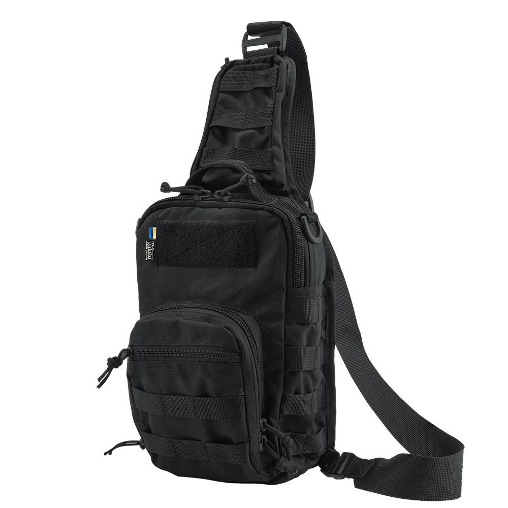 Тактична плечова однолямкова сумка EDC M Black