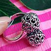 Серебряное кольцо без камней Восточные Поцелуи - Женское серебряное кольцо, фото 2