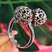 Серебряное кольцо без камней Восточные Поцелуи - Женское серебряное кольцо, фото 3