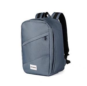 Рюкзак для ручной клади серый WascoBags 40x25x20 RW Graph (Wizz Air / Ryanair)