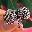 Серебряное кольцо без камней Восточные Поцелуи - Женское серебряное кольцо, фото 5