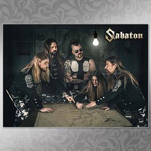 Плакат Sabaton Мелованная бумага, 007