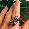 Серебряное кольцо без камней Восточные Поцелуи - Женское серебряное кольцо, фото 9