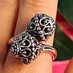 Серебряное кольцо без камней Восточные Поцелуи - Женское серебряное кольцо, фото 4
