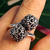 Серебряное кольцо без камней Восточные Поцелуи - Женское серебряное кольцо, фото 7