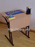 Стол ученический одноместный со сменной высотой, фото 1