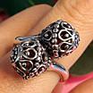 Серебряное кольцо без камней Восточные Поцелуи - Женское серебряное кольцо, фото 6