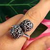 Серебряное кольцо без камней Восточные Поцелуи - Женское серебряное кольцо, фото 8