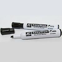 BY106600-BK Маркер Beifa для доски, сухостираемый, черный, скошенный кончик. Черный маркер для доски