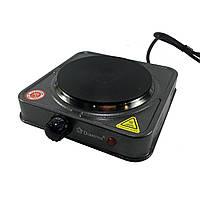 Электроплита Domotec MS-5821 дисковая плита настольная бытовая для дачи, дома 1000Вт