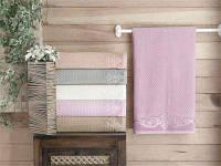 Велюровые банные полотенца, 6 штук упаковка.
