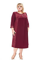 Красивое женское платье батал Индира марсала (58-72)