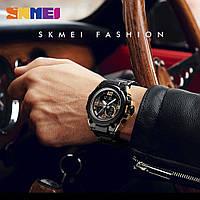 Cпортивные мужские часы Skmei 1452 SHARK black / gold / blue