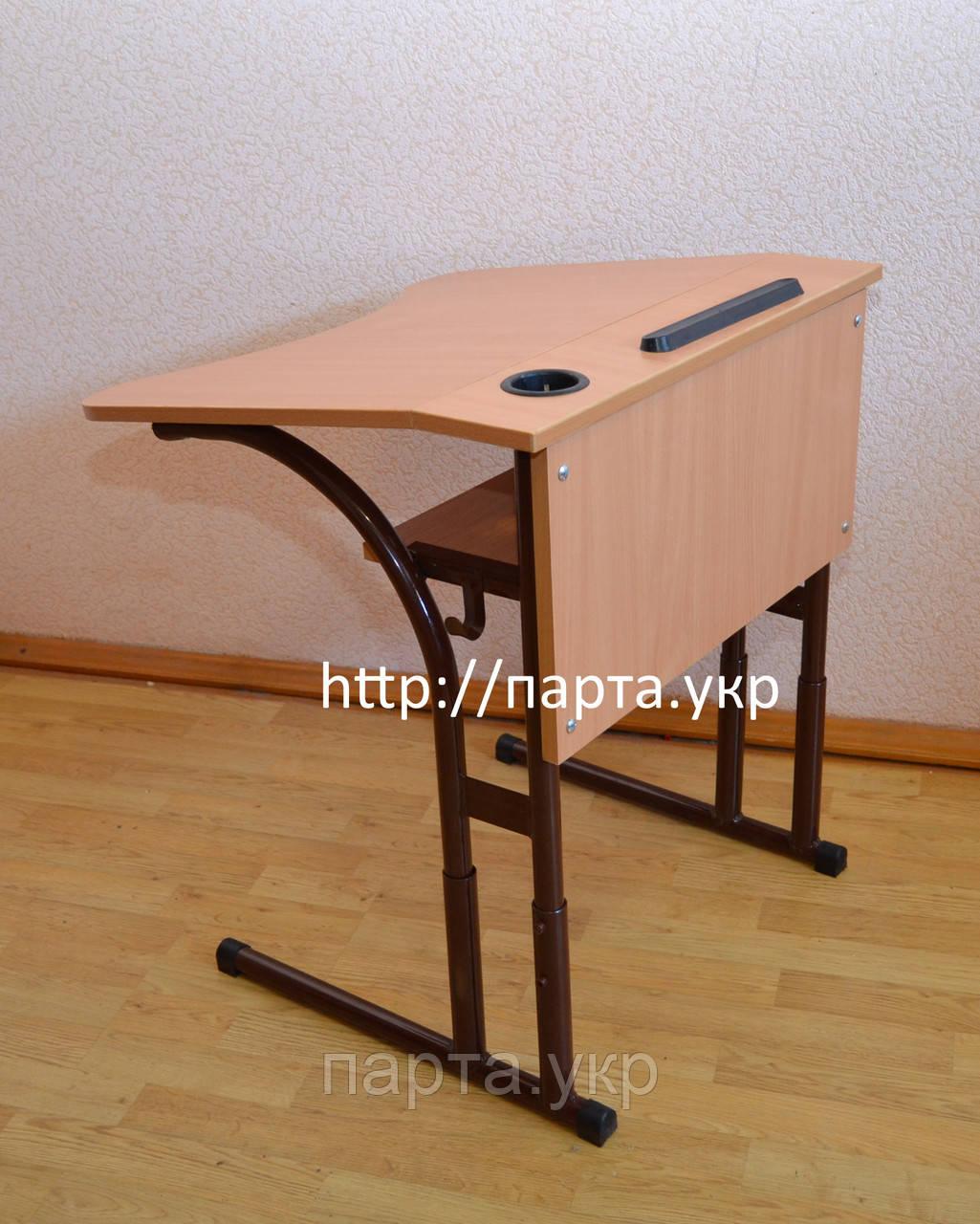 Антисколиозный одноместный ученический стол со сменной высотой