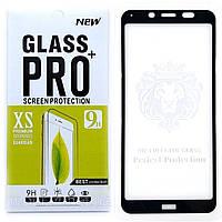 Защитное стекло Full Glue для Xiaomi Redmi 7A клей по всей поверхности (Black)