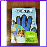 Щетка перчатка для вычесывания шерсти домашних животных True Touch, фото 8