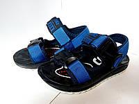 Детские сандали, летняя обувь для мальчика, босоножки синие с карабином