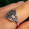 Серебряное кольцо Хамса - Кольцо рука Фатимы из серебра, фото 2