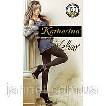 Колготки Katherina Velour 120 den, черные - 2 размер на рост 155-165см, вес 50-65кг, Италия