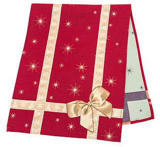 "Наперон новогодний гобеленовый ""Подарунковий"" 37 х 100 см раннер ранер дорожка на стол"