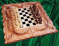 Шахматы - нарды  - шашки резные