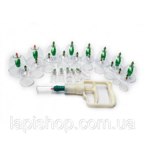 Набор KL вакуумных банок для массажа (24 шт) с насосом, фото 1