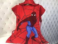Человек паук, пляжное пончо с капюшоном. Размер 60х120см. Турция.