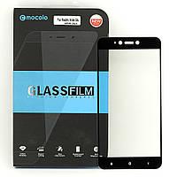 Защитное стекло MOCOLO для Xiaomi Redmi Note 5A / 2/16 полноэкранное черное