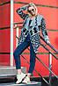 Милая женская кофта кардиган с узорами без застежки 44-52 универсальный размер, фото 4