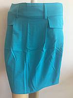 Юбка женская голубая дешево
