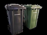 Пластиковые мусорные контейнеры  240 литров, SSI SCHÄFER зелёные и серые